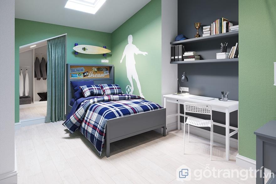 Phòng ngủ thiết kế gọn gàng, khoa học