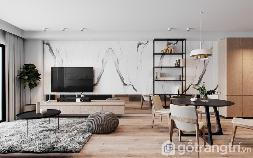 Phòng khách hiện đại, tinh tế hơn khi mỗi món đồ nội thất đều phát huy đúng vai trò, công năng sử dụng