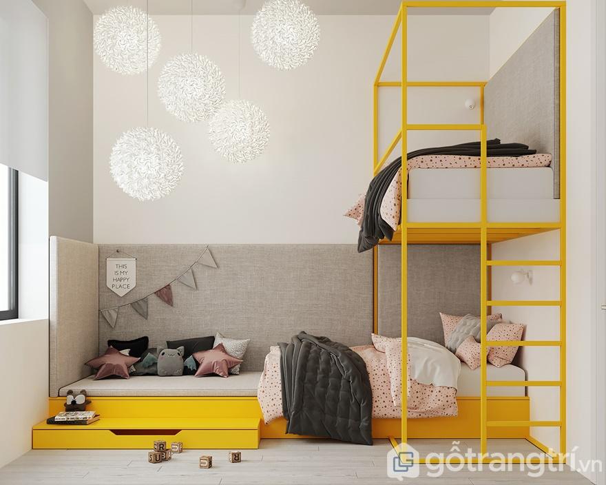 Thiết kế nội thất phòng ngủ Mipec 360: Bé gái sinh đôi