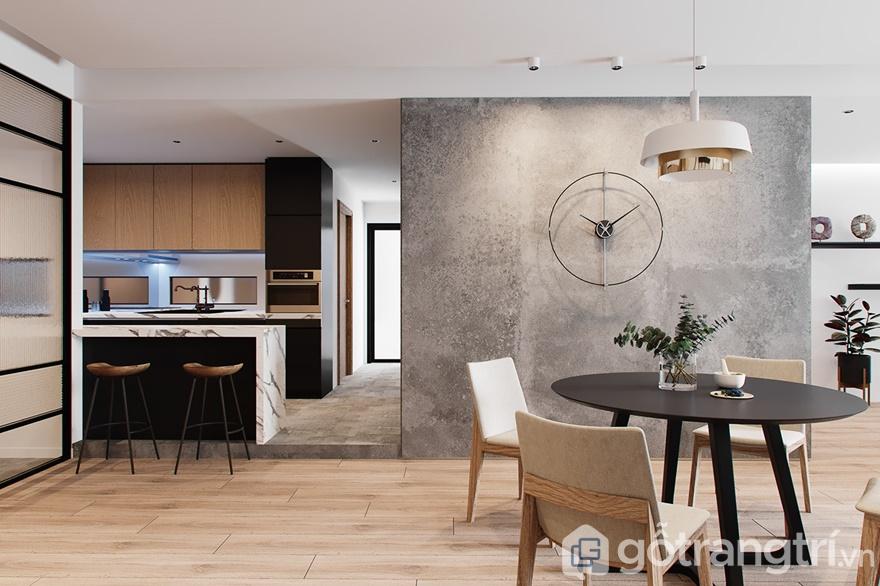 Mẫu nội thất Mipec Rubik 360 4 phòng ngủ: Phòng bếp