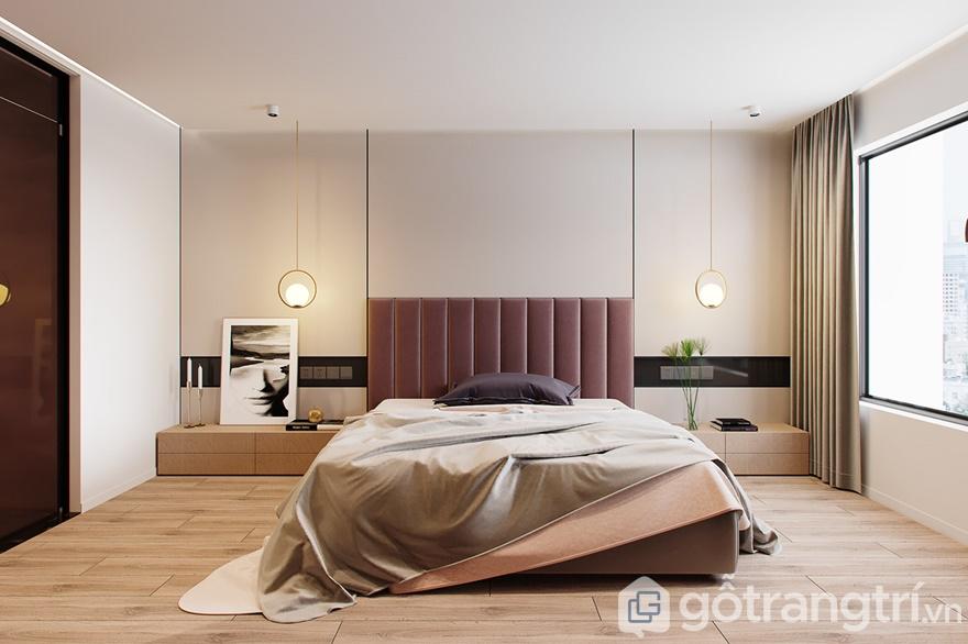 Thiết kế nội thất phòng ngủ Mipec 360: Phòng ngủ master