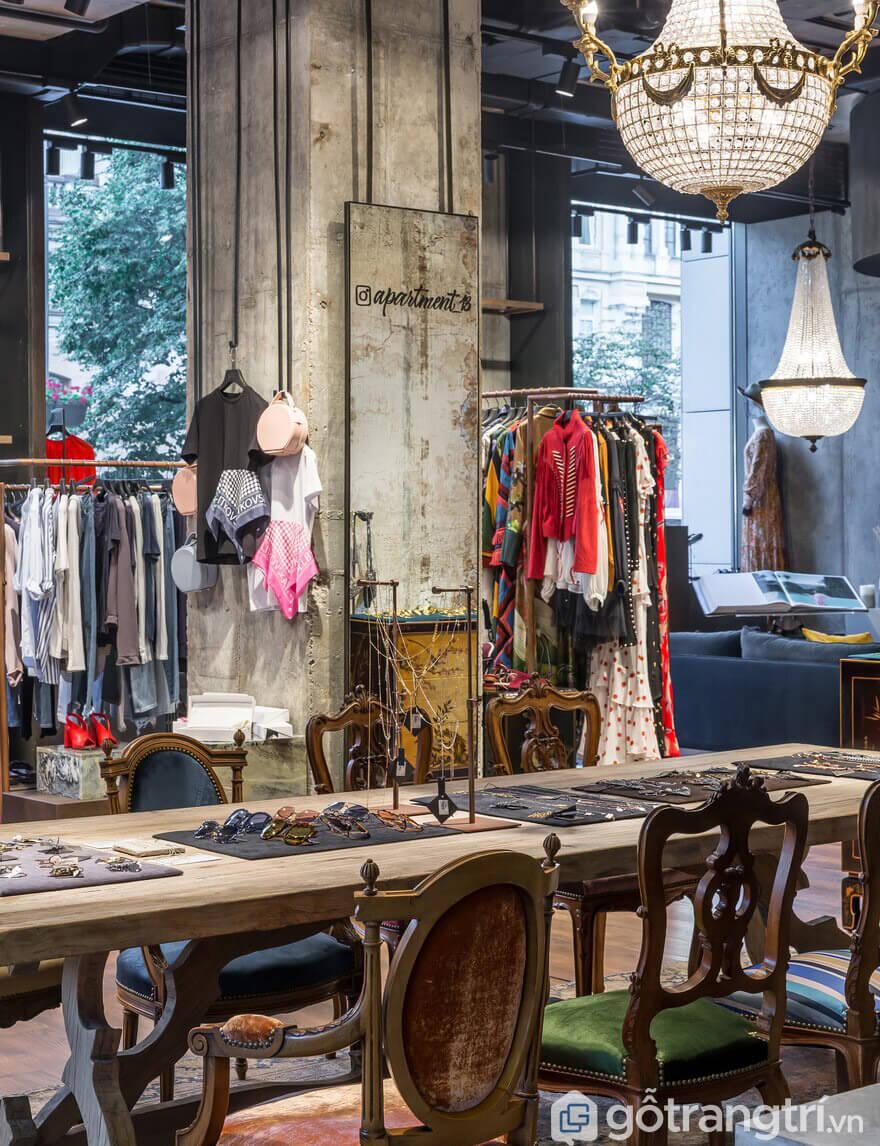 mẫu shop thời trang đẹp