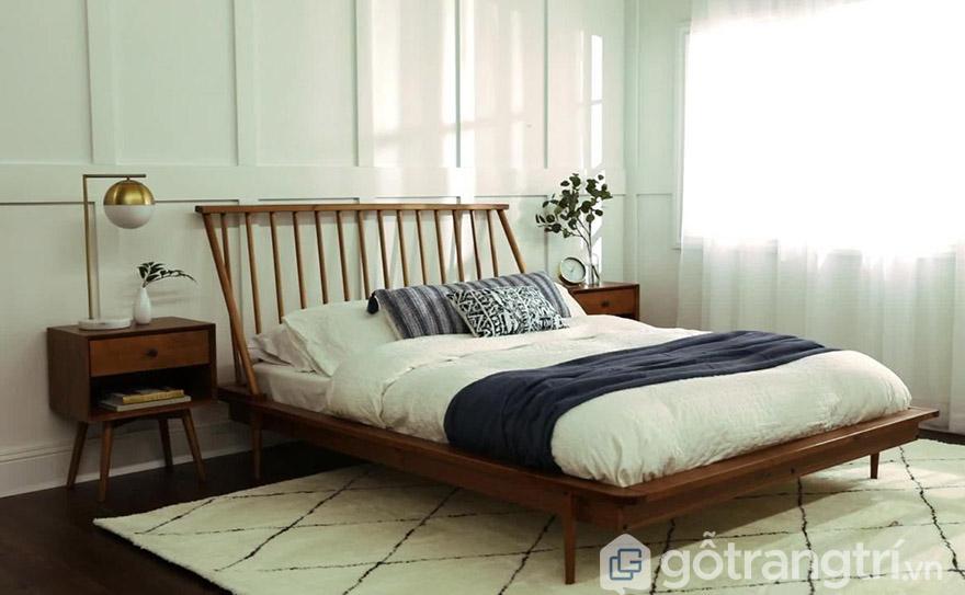Mua giường ngủ giá rẻ ở HN gỗ tự nhiên