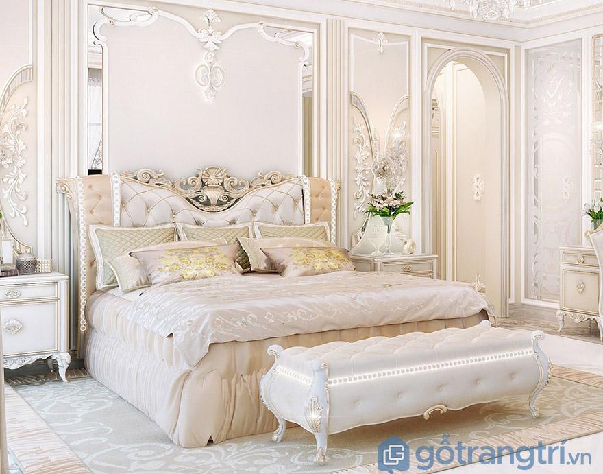 Mua giường ngủ giá rẻ ở HN phong cách cổ điển