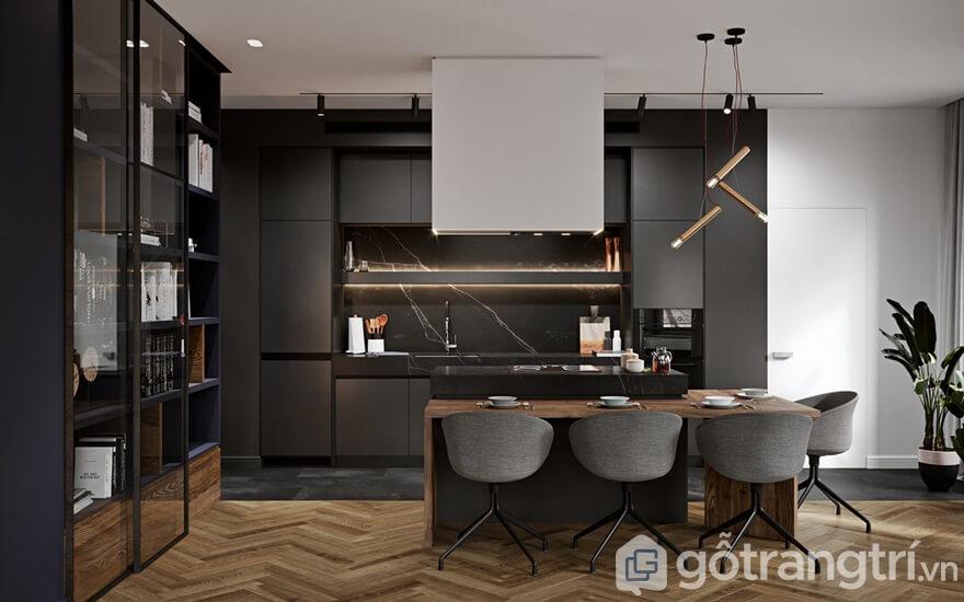 Mẫu nội thất căn hộ Mipec Rubik 360 2 phòng ngủ: Phòng bếp