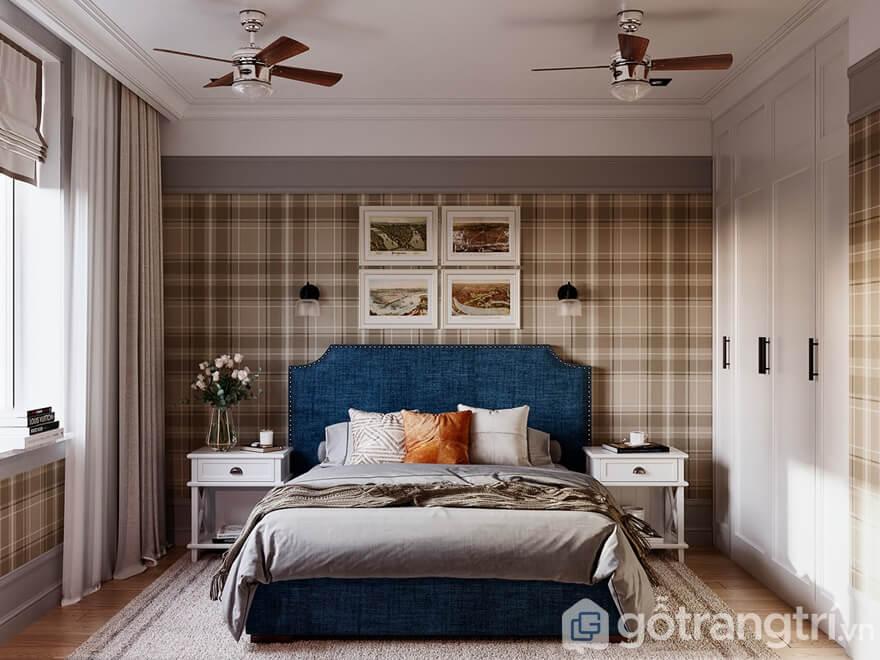 Phòng ngủ nhỏ hẹp nhưng rất ấm cúng