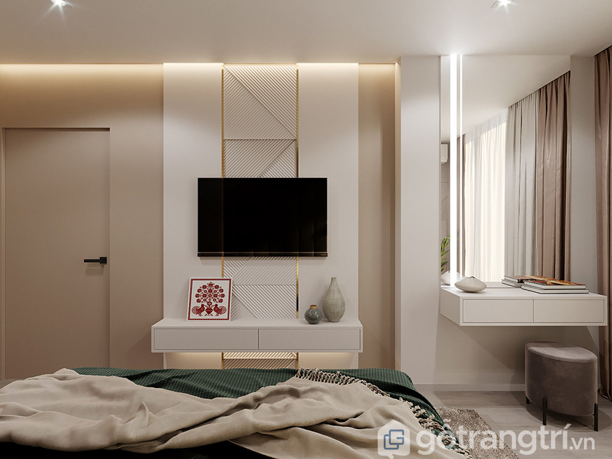 Thiết kế nội thất chung cư PCC1 Thanh Xuân 2 phòng ngủ