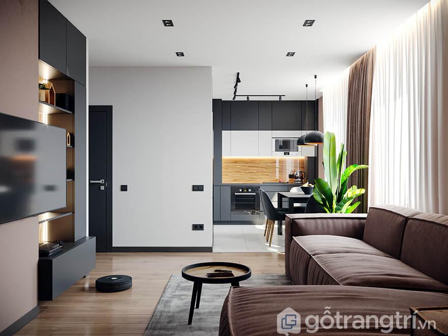 Thiết kế nội thất chung cư PCC1 Thanh Xuân 59m2