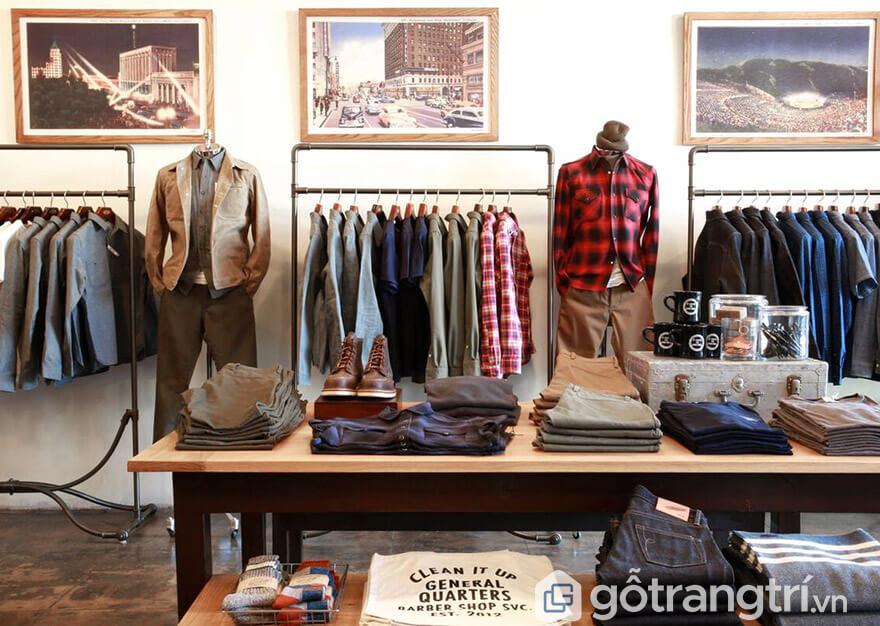 thiết kế shop quần áo nam