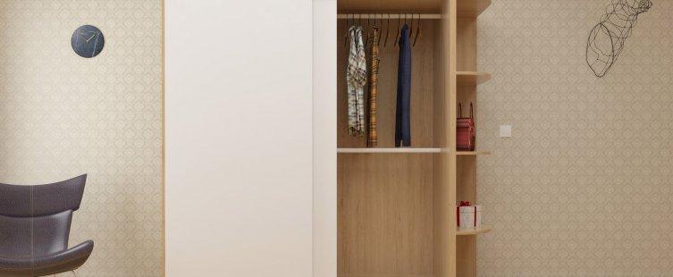 Tủ quần áo giá rẻ Đê La Thành hiện đại