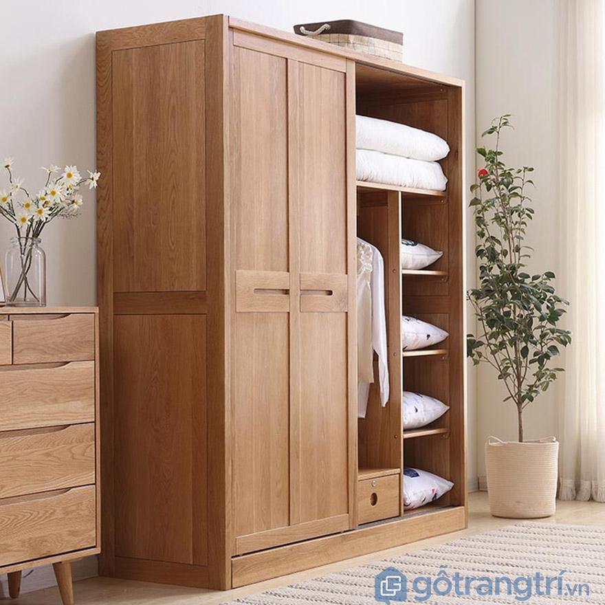 Tủ quần áo gỗ Hà Nội cánh lùa