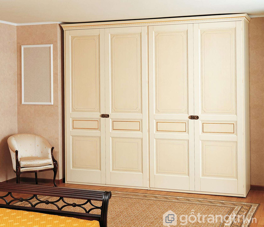 tủ quần áo gỗ công nghiệp tân cổ điển