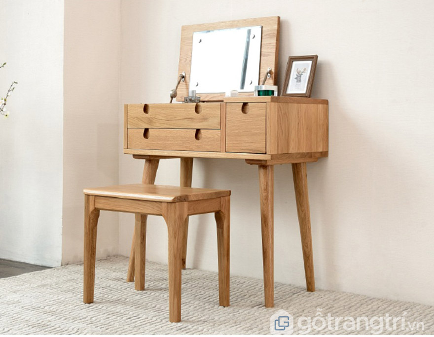 Bàn trang điểm gỗ tự nhiên Hà Nội hiện đại