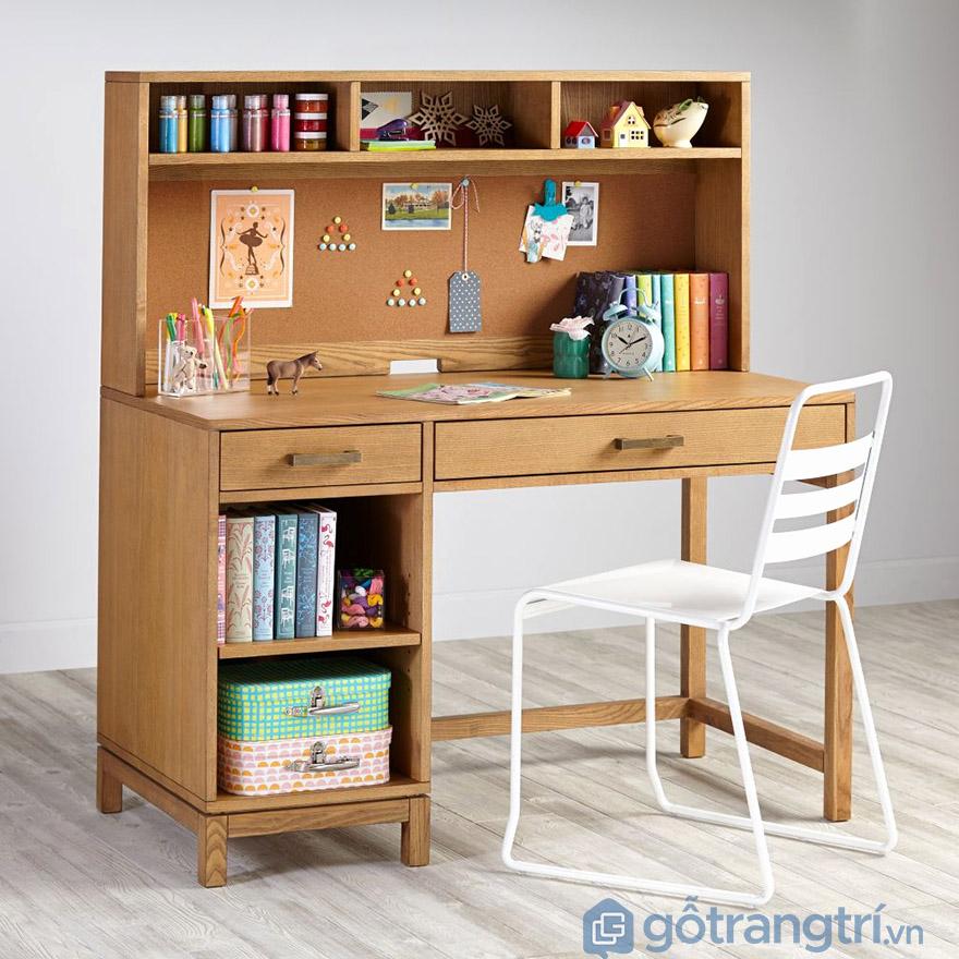 Cách trang trí bàn học gỗ