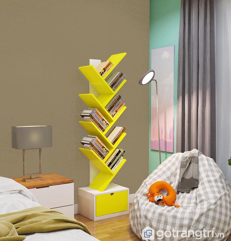 Đặt kệ sách trong phòng ngủ