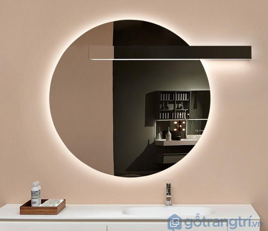 gương tròn trang điểm đèn led