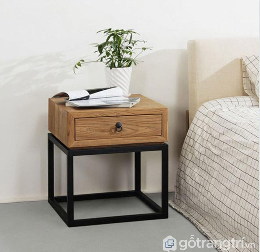 Kệ đầu giường gỗ tự nhiên