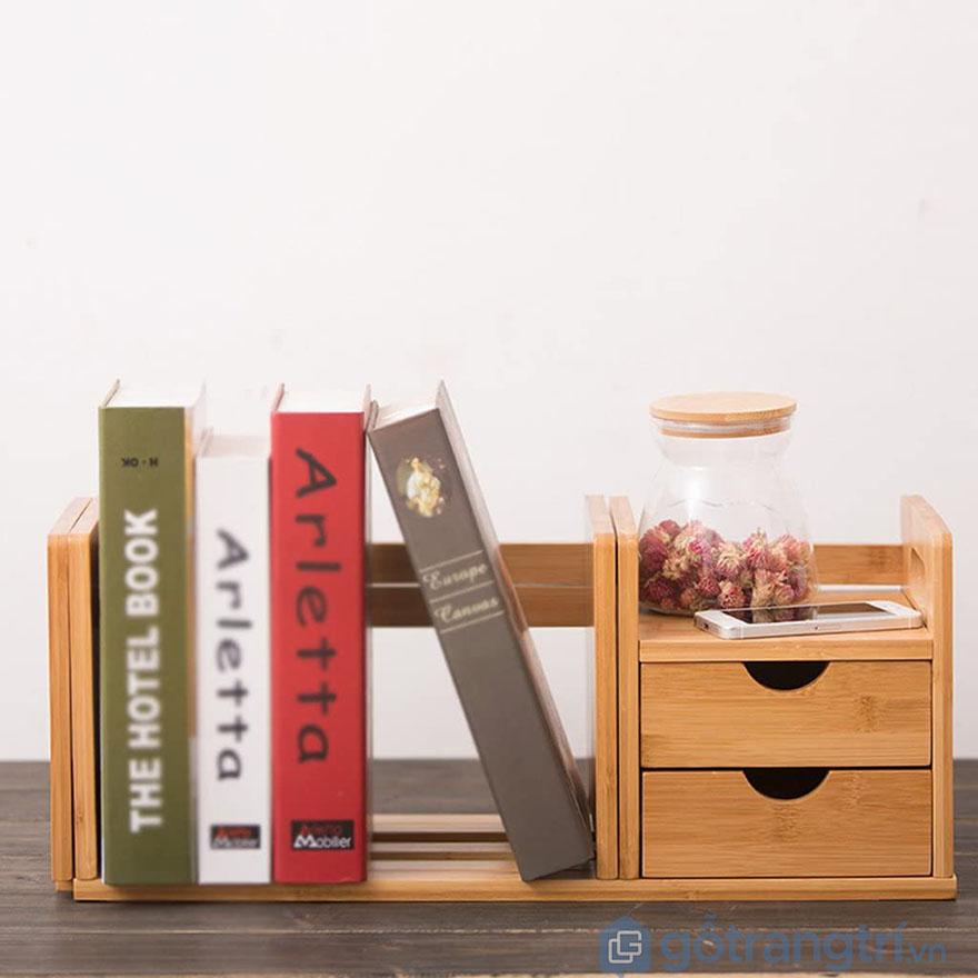 Kệ sách mini để bàn thiết kế lạ mắt