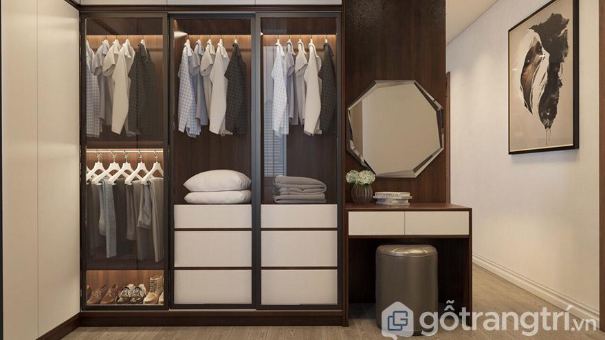Thiết kế kích thước tủ quần áo 3 buồng