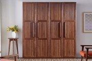 Mẫu tủ quần áo gỗ tự nhiên 4 cánh