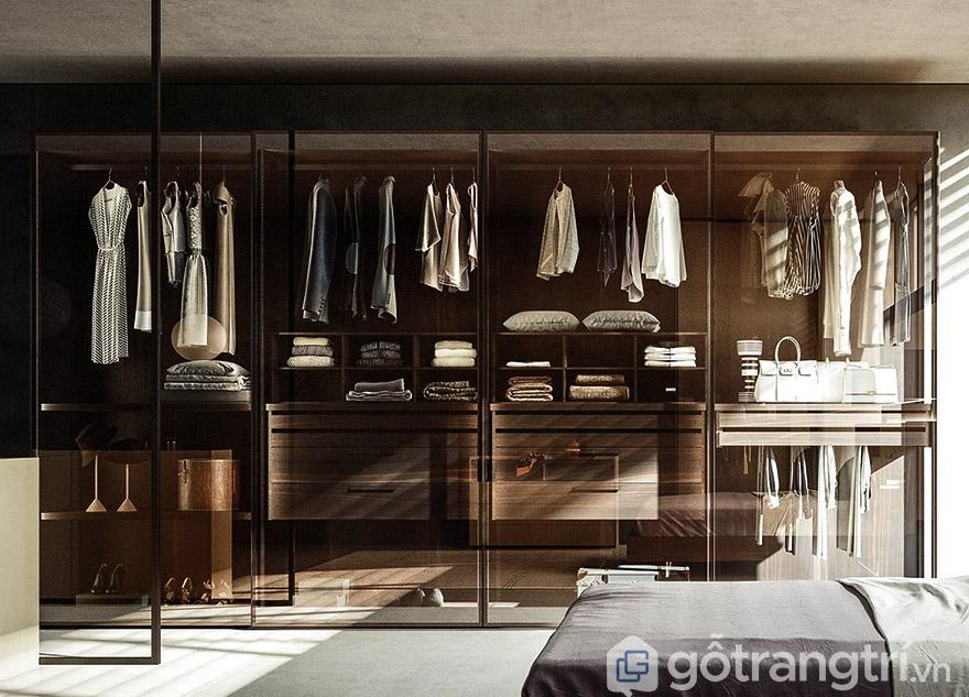 Mẫu tủ quần áo gỗ tự nhiên 4 cánh hiện đại