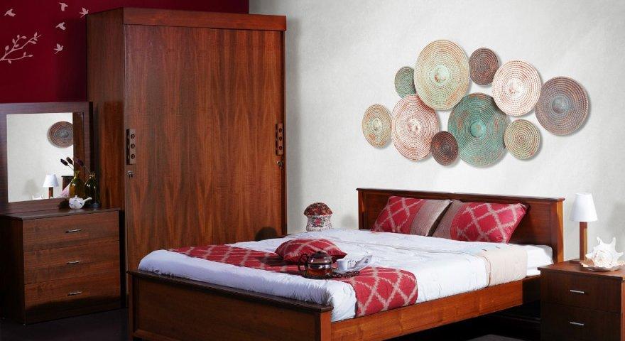 Tủ quần áo gỗ xoan đào 4 cánh 2 tầng đẹp