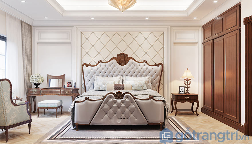 Tab đầu giường tân cổ điển