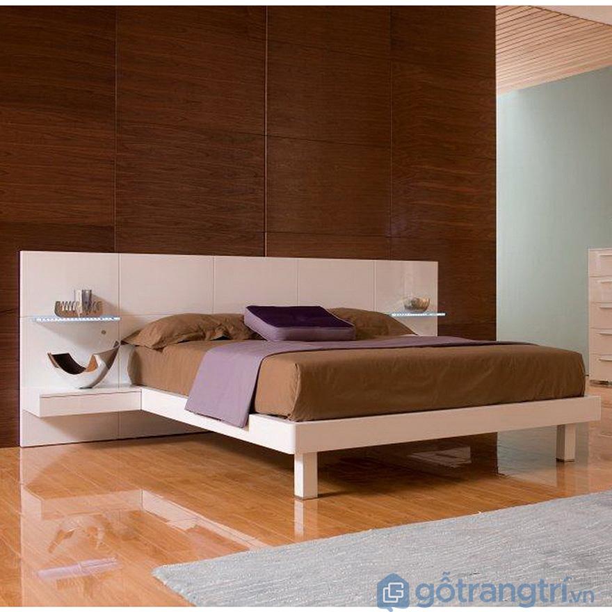 Tủ đầu giường teo tường hiện đại