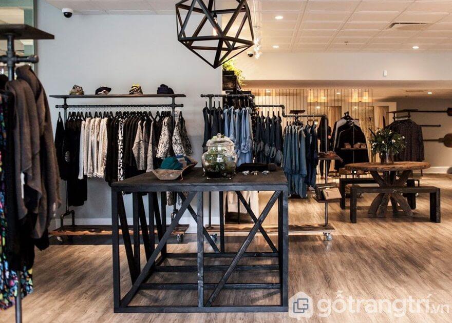 Thiết kế shop quần áo nam theo phong cách cổ điển