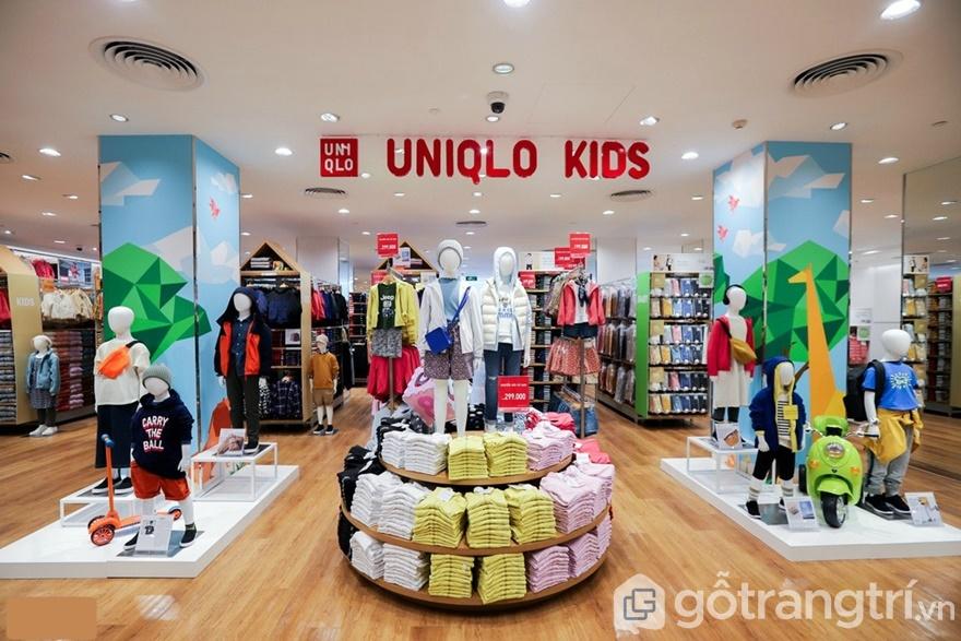 Mẫu thiết kế shop thời trang cho béUniqlo