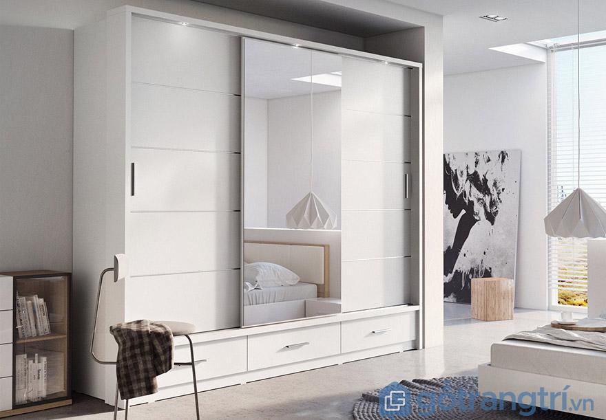 Thiết kế tủ quần áo cho phòng ngủ nhỏ xinh