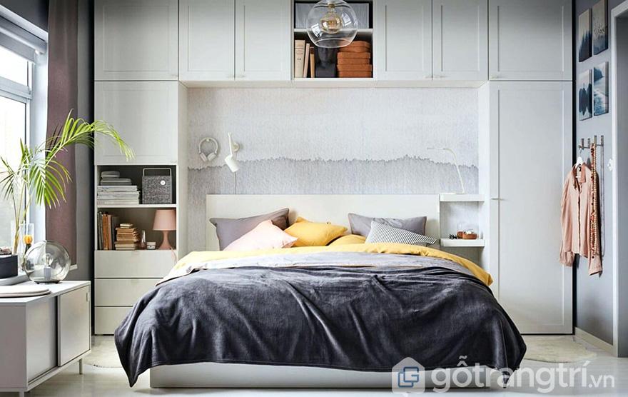 Thiết kế tủ quần áo thông minh kết hợp giường ngủ