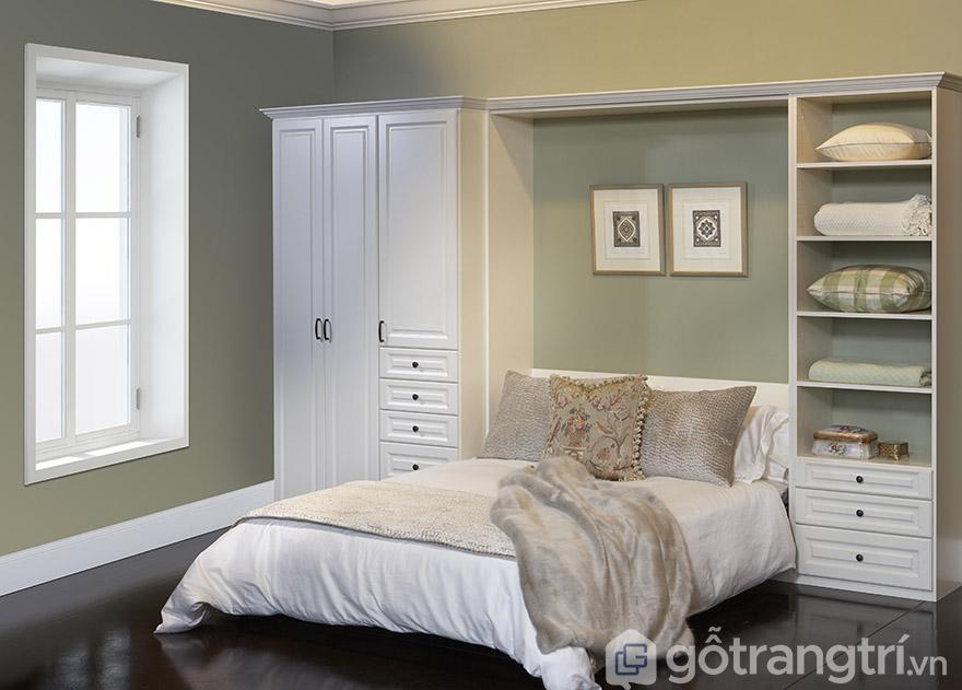 Thiết kế tủ quần áo thông minh kết hợp giường ngủ hiện đại