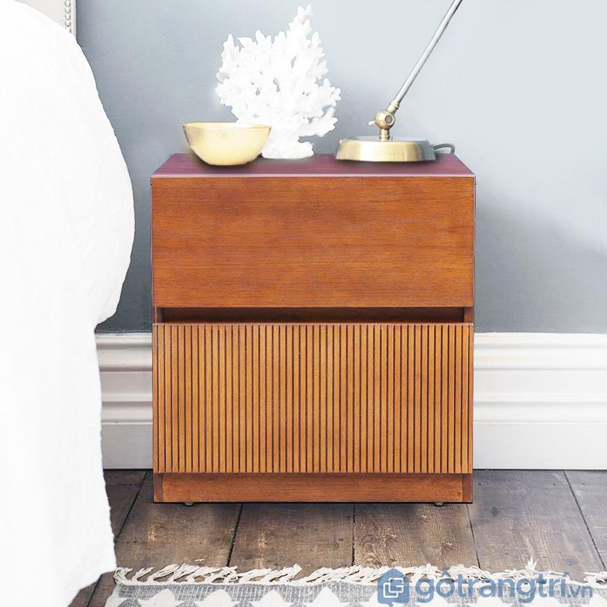 Tủ đầu giường gỗ hương