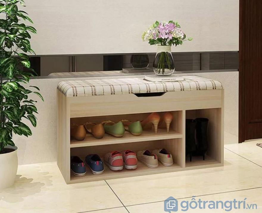 tủ để giày dép bằng gỗ