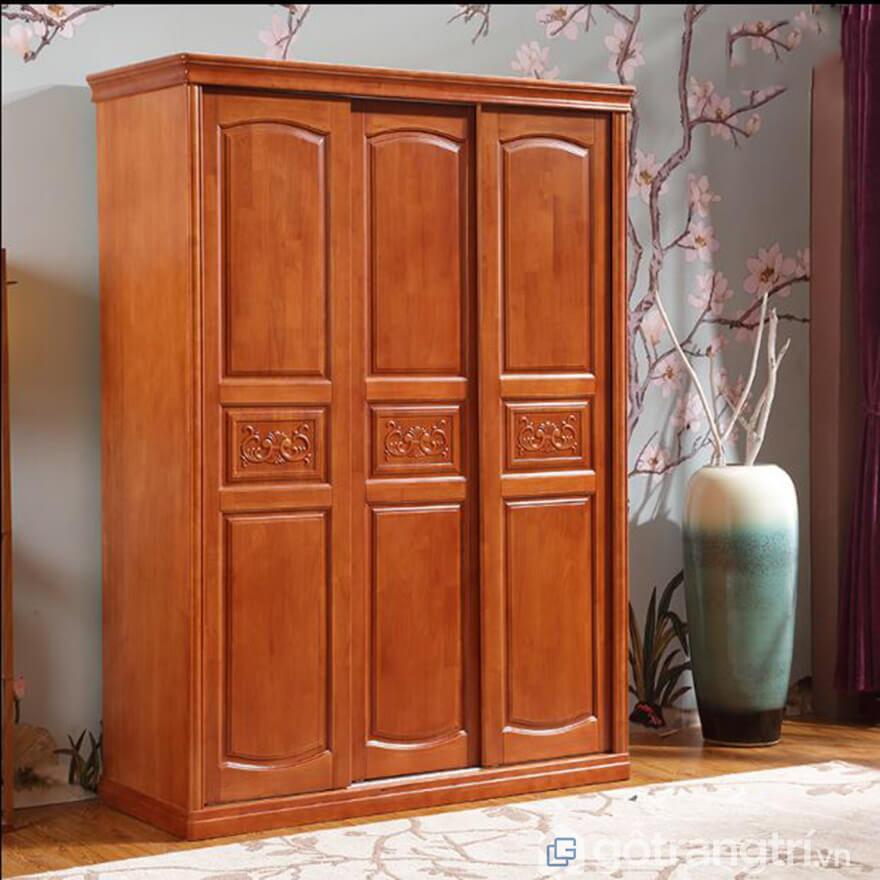 Tủ gỗ xoan đào phong cách hiện đại