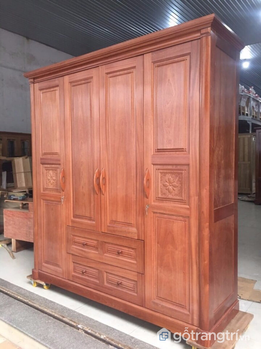 tủ quần áo gỗ xoan đào