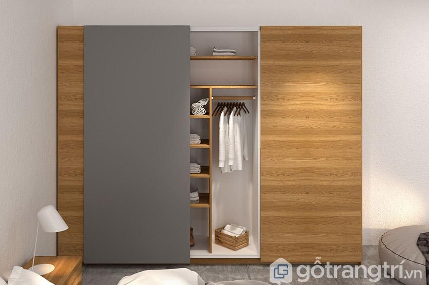 tủ quần áo cửa lùa 1m6