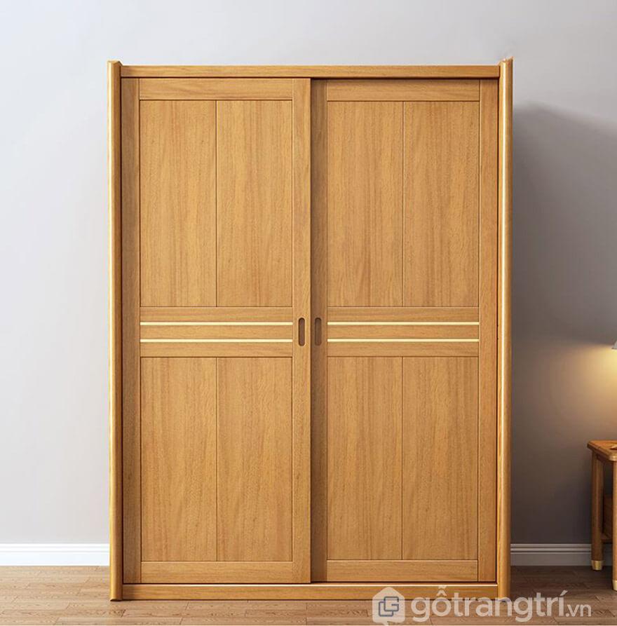 Tủ quần áo cửa lùa gỗ tự nhiên
