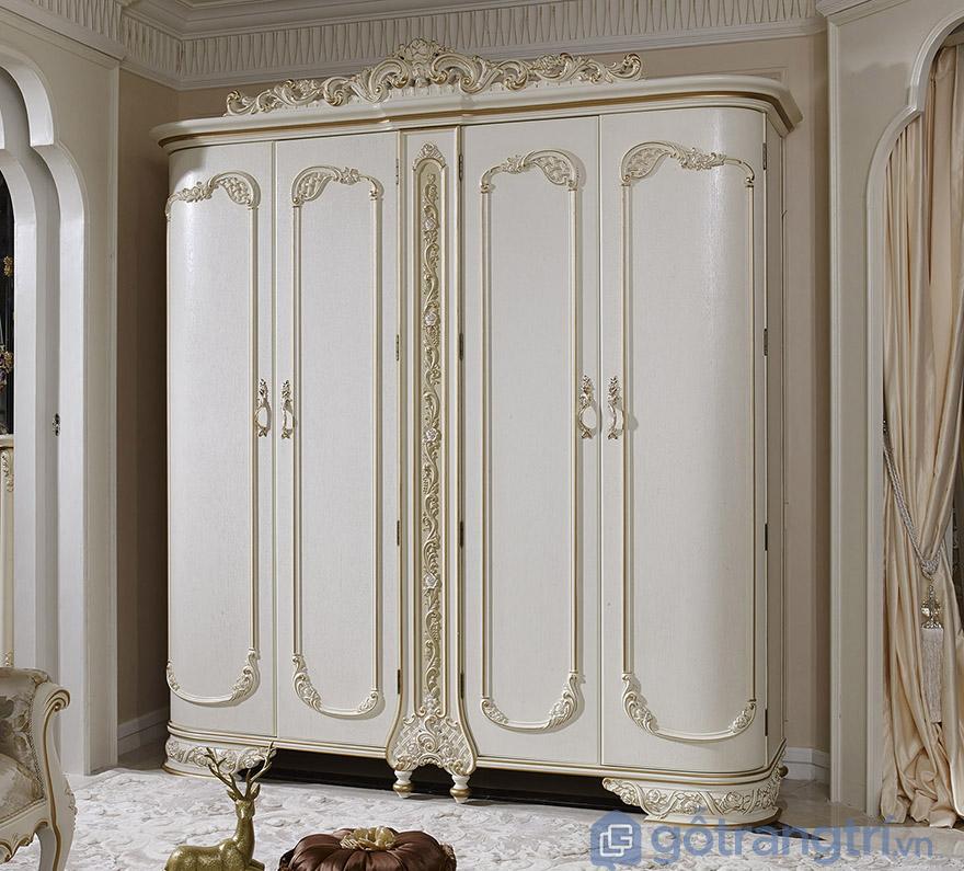 Tủ quần áo tân cổ điển giá rẻ phong cách Châu Âu