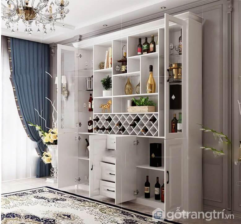 các mẫu tủ rượu âm tường đẹp