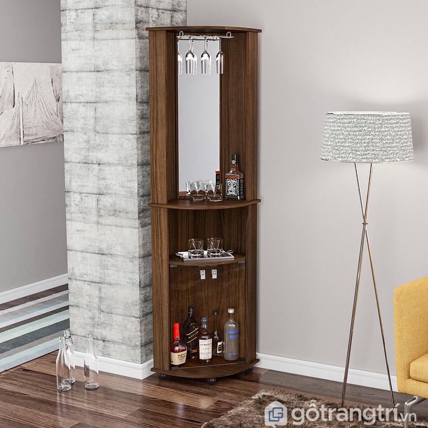 Tủ rượu góc tường đẹp