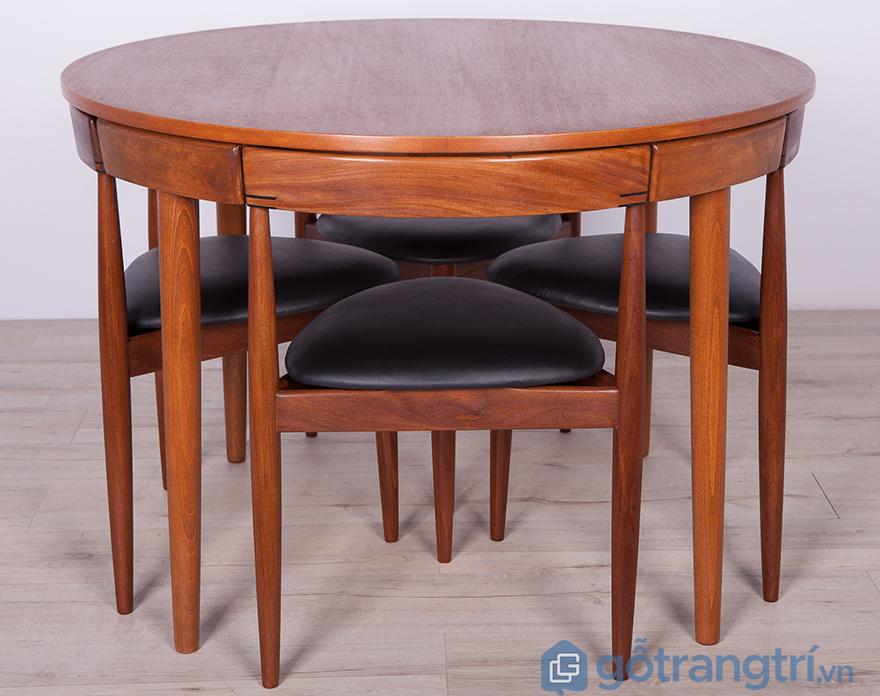 Bàn ăn gỗ xoan đào 4 ghế