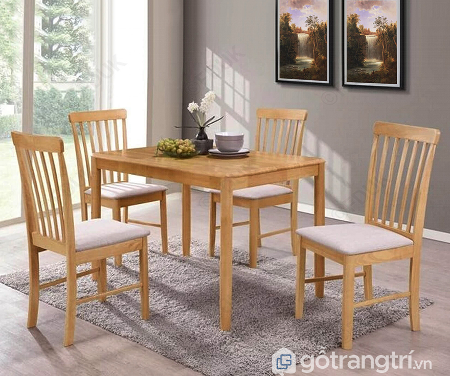 Bàn ghế ăn gỗ sồi đỏ