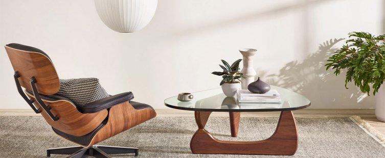 bàn sofa mặt kính hiện đại
