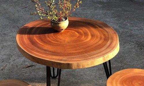 Bàn trà gỗ nguyên khối đẹp