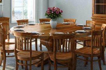 Bộ bàn ăn tròn 10 ghế đẹp