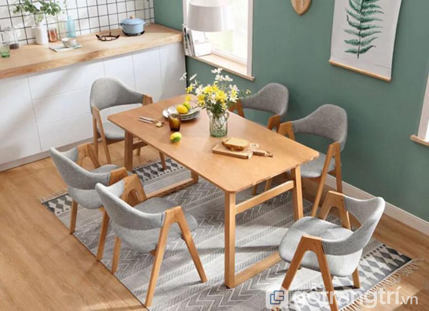 bộ bàn ghế ăn 6 ghế hiện đại