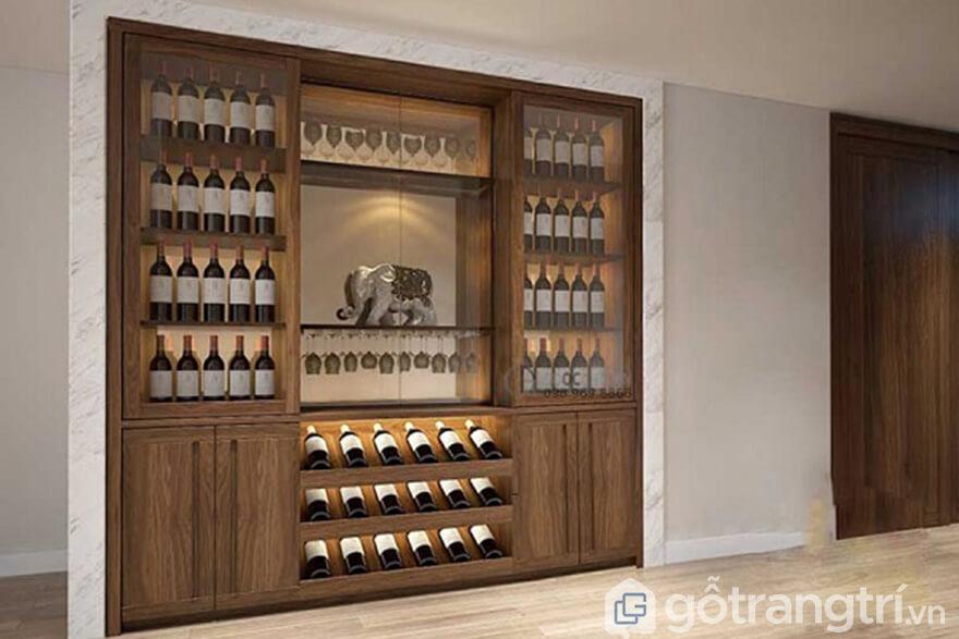 - Tủ rượu âm tường