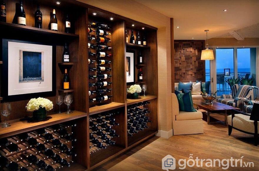 các mẫu tủ rượu âm tượng đẹp